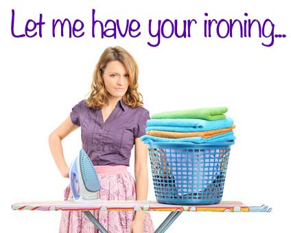 woman ironing for Ironing Service Central Scotland