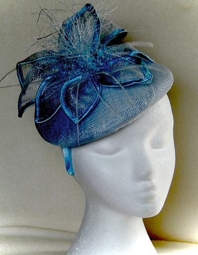 blue mother of the bride custom hat West Calder