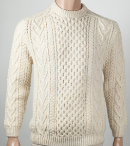 custom hand knitting men's aran sweater scotland
